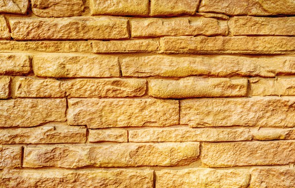 Picture yellow, brick, Texture