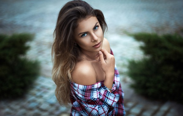 Picture look, face, portrait, Girl, shirt, shoulders, Vanya Tufkova