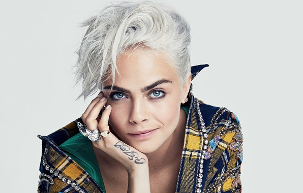 Picture look, girl, decoration, photo, model, ring, Cara Delevingne
