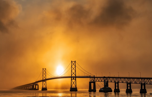 Picture bridge, morning, Orlean's bridge