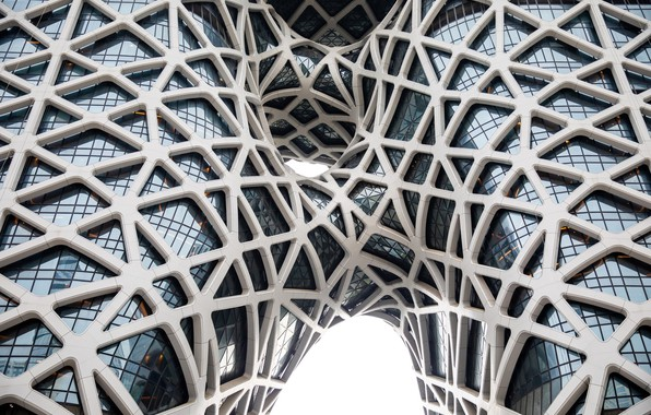 Picture Glass, Line, Bending, Architecture, Macau, Morpheus Hotel