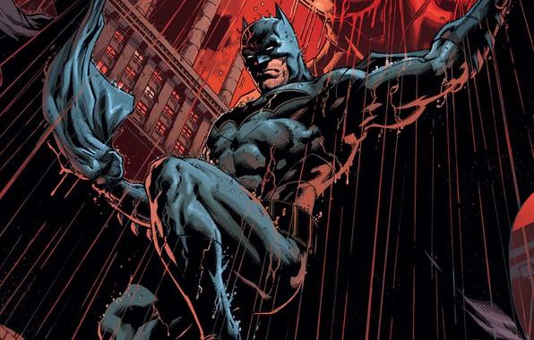 Picture Red, Rain, Batman, Costume, Hero, Comic, Red, Cloak, Superhero, Hero, Batman, Rain, Bruce Wayne, DC …