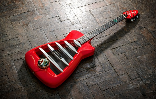 Picture red, design, background, England, guitar, logo, flooring, Italy, Britain, old, Alfa Romeo, emblem, limited, limited …