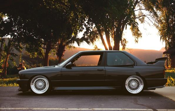 Picture Black, Stance, BMW E30 M3