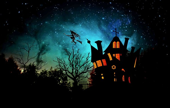 Picture night, house, Halloween, witch, 31 Oct
