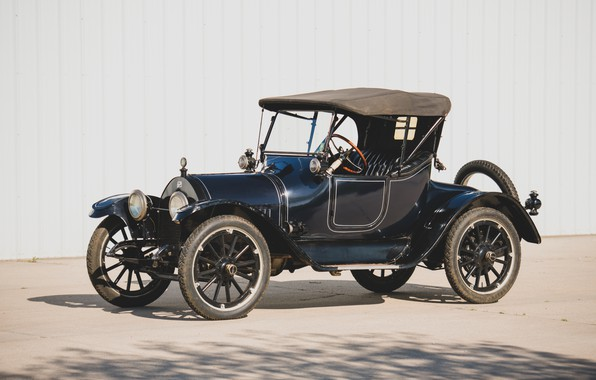 Picture photo, Roadster, Blue, Retro, Car, 1914, Buick, Model B-36