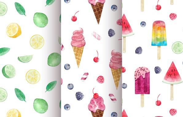 Photo wallpaper background, texture, ice cream, dessert, pattern, Ice cream