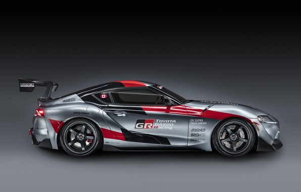 Picture grey, background, coupe, Toyota, side view, 2020, GR Supra Track Concept