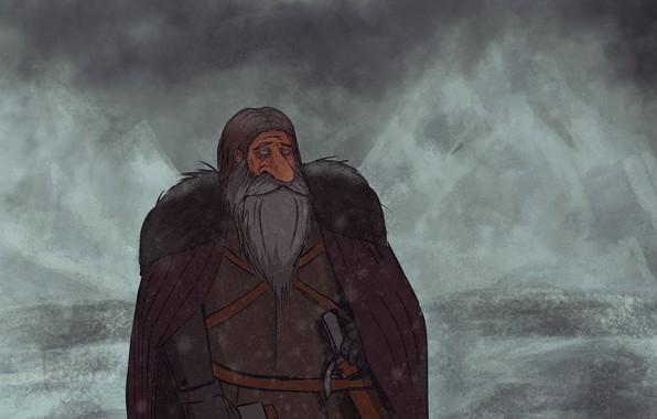 Picture winter, snow, mountains, dwarf