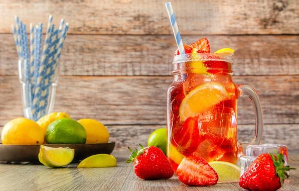 Picture berries, drink, lemonade