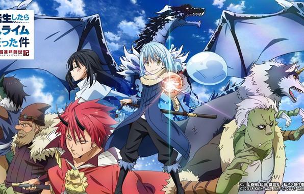 Picture fantasy, anime, characters, Tensei shitara Slime Datta Ken