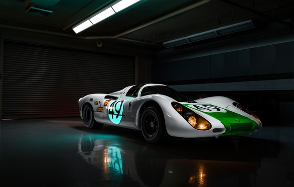 Picture lights, Porsche, racing car, Jeremy Cliff, Porsche 907, 907