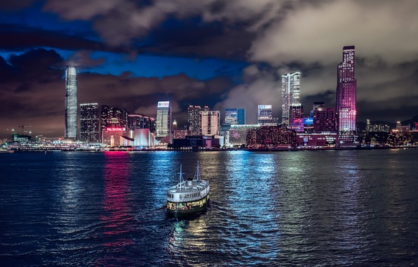Picture night, china, Hong Kong, Star Ferry