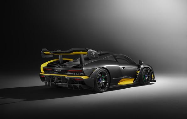 Picture auto, McLaren, grey background, brown