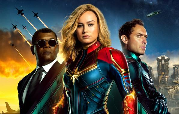 Picture fiction, poster, Jude Law, comic, costumes, Jude Law, MARVEL, Nick Fury, Carol Danvers, Captain Marvel, …