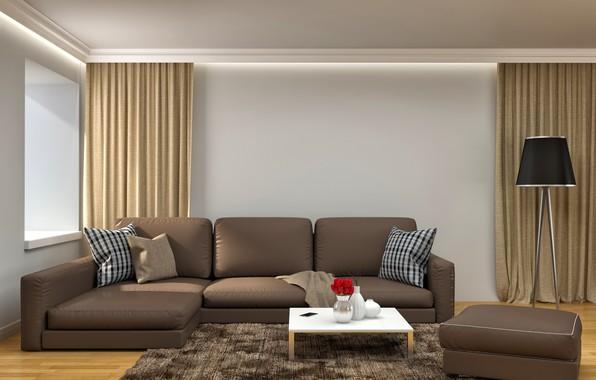 Picture sofa, interior, table, modern, living room, sofa, modern