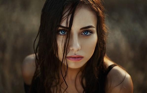 Picture look, background, model, portrait, makeup, hairstyle, brown hair, beauty, bokeh, Natasha, Ann Nevreva