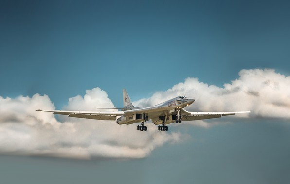 Picture The sky, The plane, Flight, USSR, Russia, Aviation, BBC, Bomber, Tupolev, Tu 160, The plane, ...
