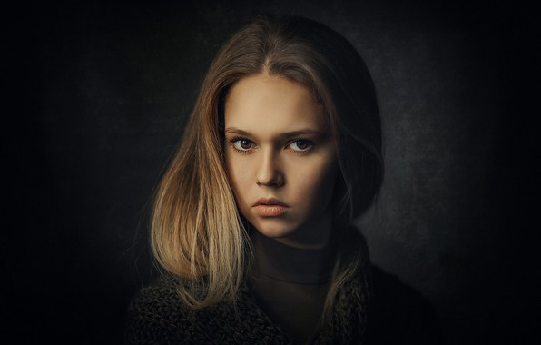 Picture portrait, girl, Sergey Piltnik