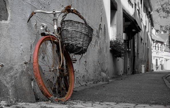 Picture bike, the city, street, naturalism