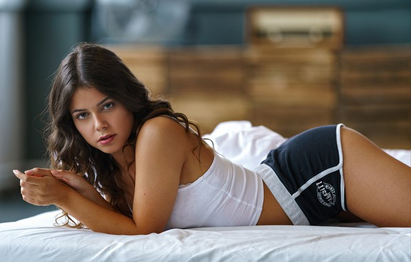 Picture girl, shorts, long hair, legs, brown eyes, photo, photographer, model, lips, face, brunette, portrait, mouth, …