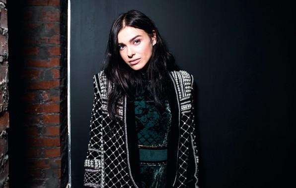 Picture look, girl, pose, makeup, brunette, singer, TV presenter, hair, Elena Temnikova, Elena Temnikova
