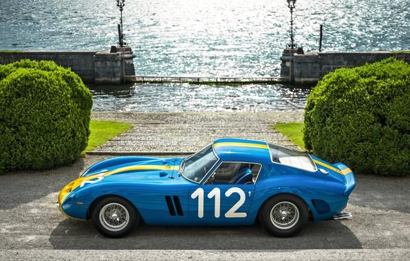 Picture ferrari, blue, gto, 250, Ferrari 250 GTO