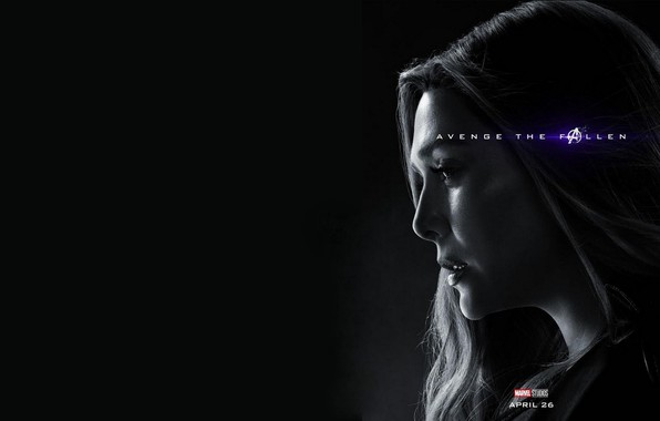 Picture Scarlet Witch, Avengers: Endgame, Avengers Finale, Terpily Thanos, Ashes after clicking
