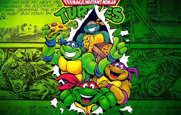 Picture pizza, Donatello, Michelangelo, turtles, TMNT, comic, Leonardo, teenage mutant ninja turtles, Rafael