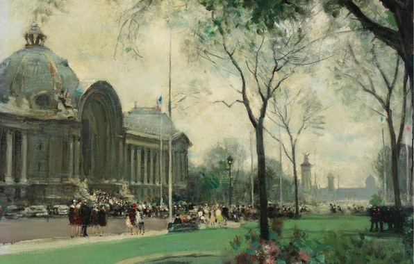 Picture picture, the urban landscape, Small Palace. Paris, Jules Rene Herve, Jules Rene Herve