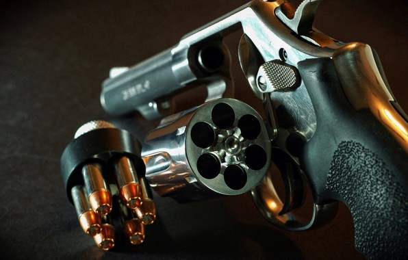 Picture Gun, Revolver, Drum, Pistol, Cartridges
