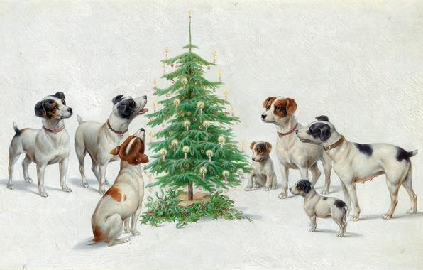 Picture Christmas, Christmas, Austrian painter, Austrian painter, oil on board, Carl Reichert, Carl Reichert