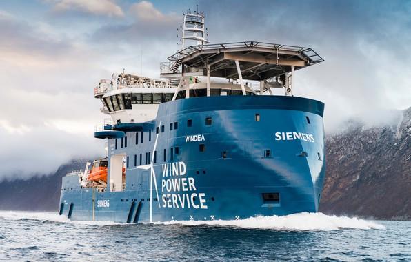 Photo wallpaper Sea, Mountains, The ship, Tank, Offshore, Offshore Supply Ship, Supply Ship, M/V Windea, Windea Offshore, ...