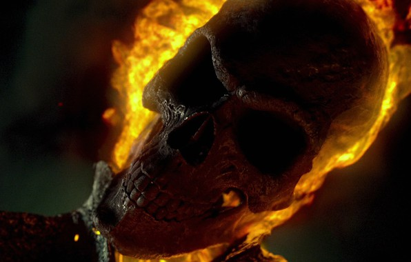 Picture fire, skull, the demon, demon, Ghost Rider, Marvel, Ghost rider, Ghost Rider: Spirit of Vengeance, …