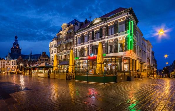 Picture night, the building, Netherlands, Nijmegen, Cafe Biessels