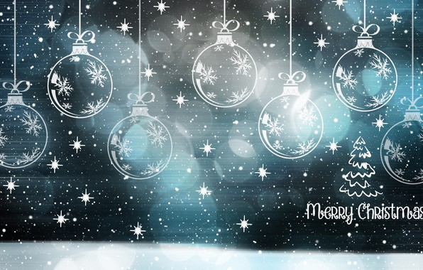 Picture balls, snowflakes, new year, Christmas