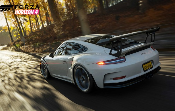Picture 911, Porsche, Microsoft, game, 2018, GT3 RS, Forza Horizon 4