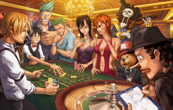 Picture girls, anime, casino