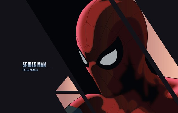Picture red, background, the inscription, art, costume, superhero, comic, Spider-man, MARVEL, Spider-Man, Peter Parker