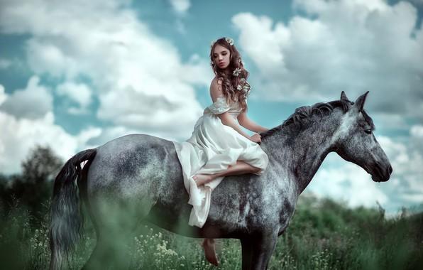 Picture girl, horse, horse, photographer, girl, Maria Lipina