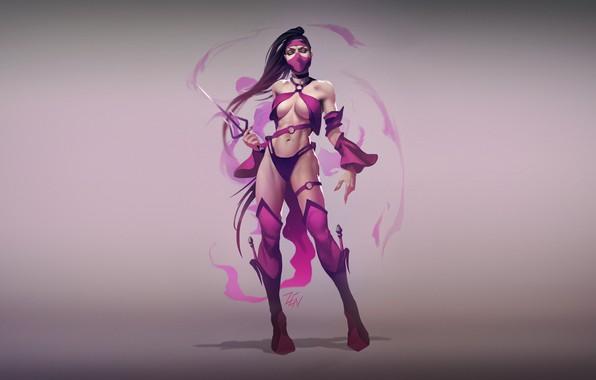 Picture Minimalism, Art, Mortal Kombat, Illustration, Mileena, by Zenda Naar, Zenda To, MK World - Mileena