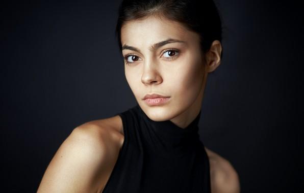 Picture portrait, brown-eyed, Alexander Vinogradov