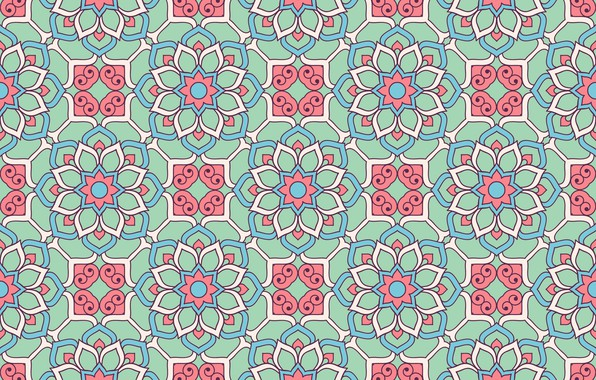 Picture flowers, pattern, texture, ornament, pattern, floral, seamless