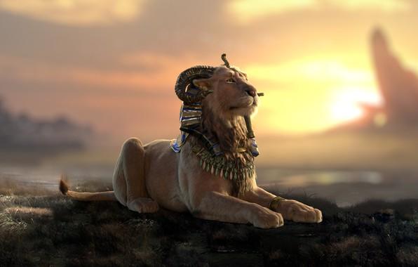Picture predator, art, lioness, Nicolas MOREL, Criosphynx - Lookdev