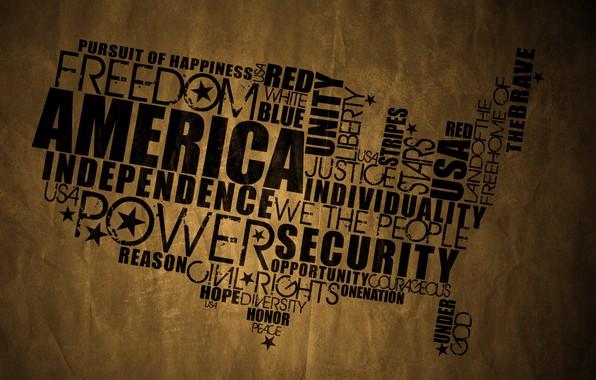 Picture paper, America, black, art, old, custom, usa, fon, map, wrinkled, paper, border