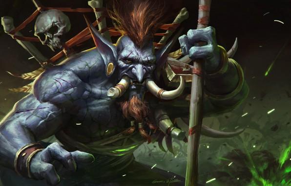 Photo Wallpaper Figure Fangs WOW Blizzard Art WarCraft Illustration