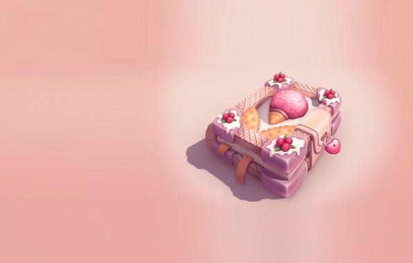 Picture rendering, art, sweets, book, fun, yummy, Julia Belyakova