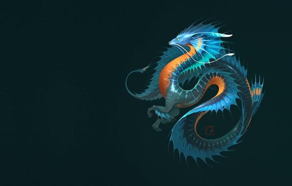 Picture dragon, fantasy, art, Alexander Khitrov, GaudiBuendia
