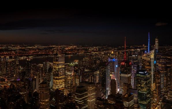 Picture night, the city, lights, Rodrigo Godinez