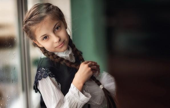 Picture portrait, window, girl